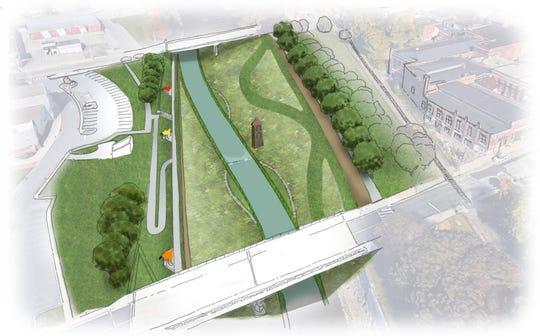 A rendering of potential Codorus Creek improvements (Photo courtesy of Buchart Horn, Inc.).