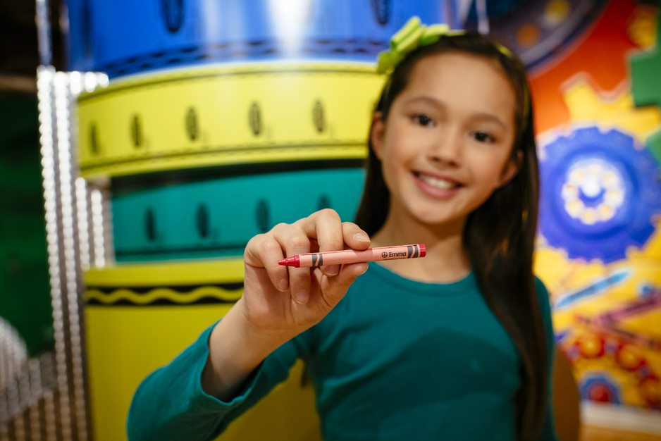 The Crayola Experience in Easton, PA gives a kids a chance to make their own crayons, climb on a giant playground, and more.