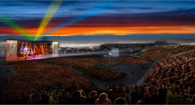 A rendering of the planned Nugget Event Center