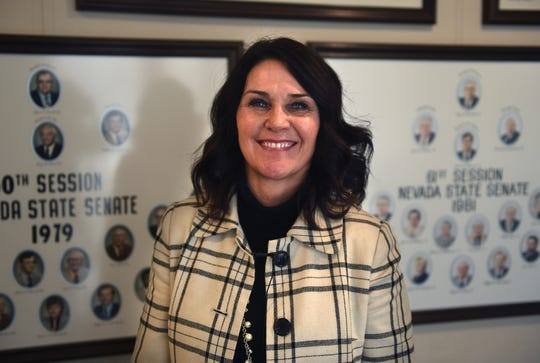 Assemblywoman Alexis Hansen (Rep-District 32) poses for a portrait at the Nevada State Legislature Building in Carson City on Jan. 14, 2019.