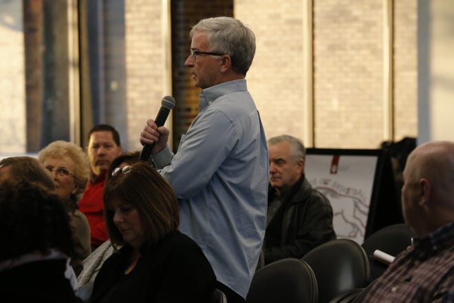 Audience members ask questions of local legislators during a past Legislative Forum.