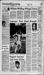 The May 26, 1973 Democrat and Chronicle sports section; Amerks Rick Pagnutti was named AHL All-Star for his record-breaking season. Zach Redmond broke Pagnutti's 46-year record for goals by a defenseman in a single season with his 19th, scoring against Binghamton on Wednesday, Jan. 23, 2019.