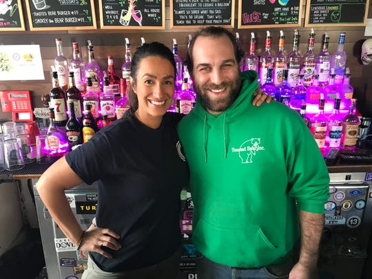 Sarah Goodenough, left, owner of Kitchen Verde, and Jesse Esan, co-owner of Toasted Bear, teamed up to develop the vegan menu for the Toasted Bear.