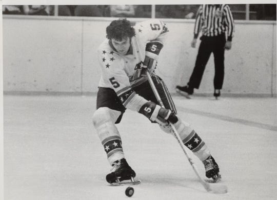 Rick Pagnutti's Amerks team record for goals by a defenseman stood for 46 years. Zach Redmond has 19 goals this season, but is currently out with a high-ankle sprain.