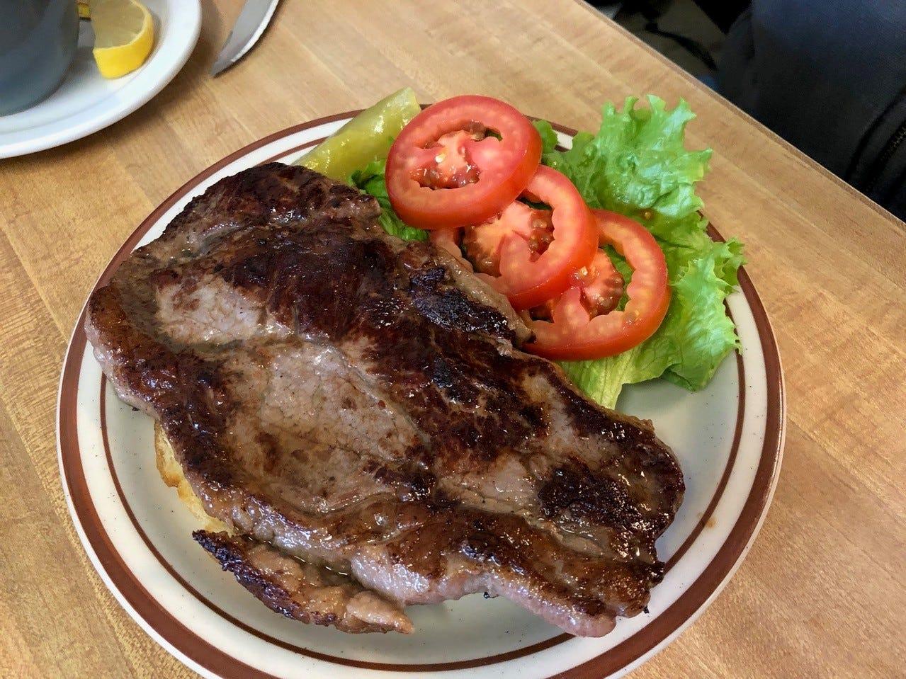 The steak sandwich lunch special at Rita's Kitchen in Redding.