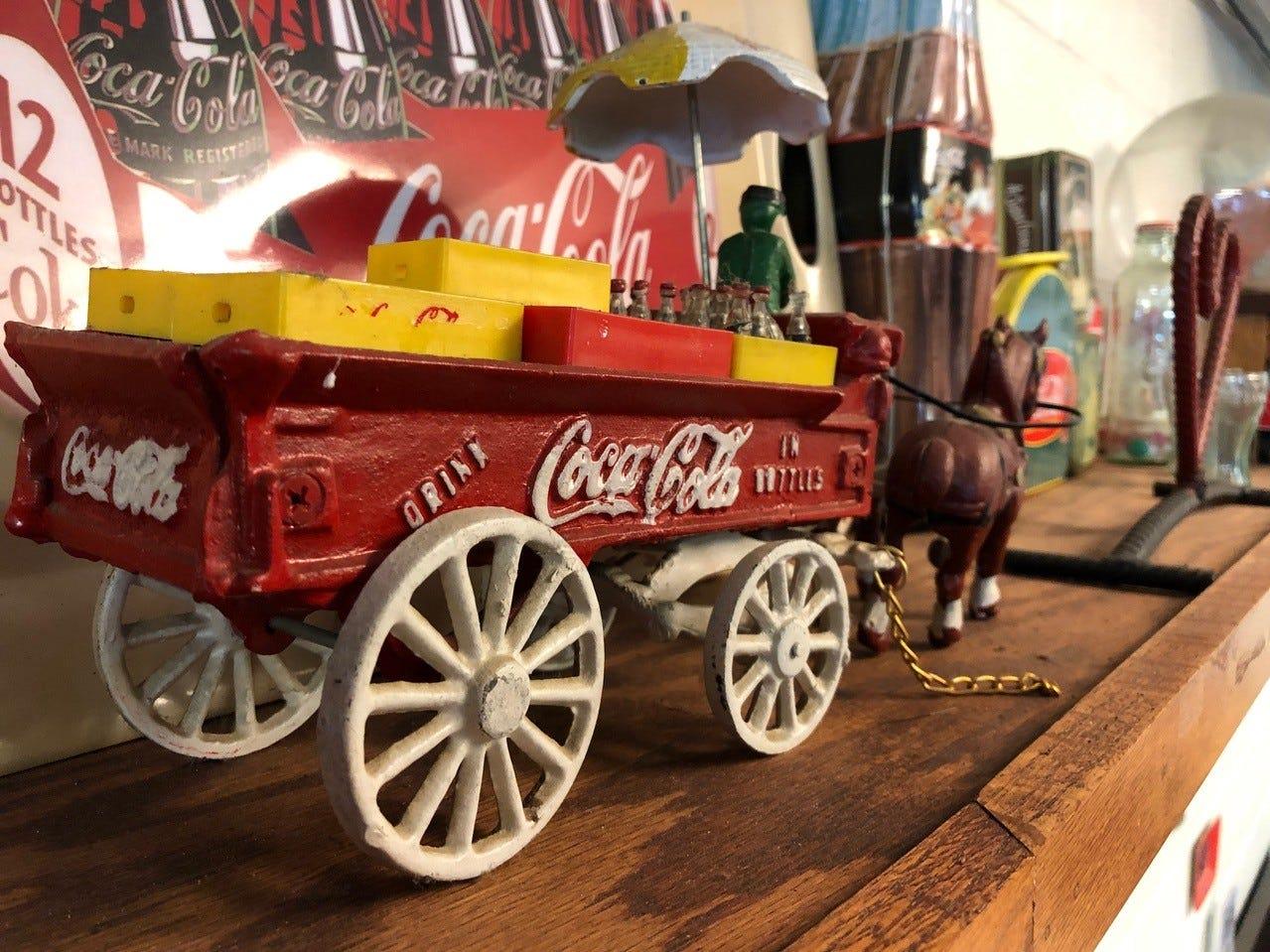 Some of the Coca-Cola decor at Rita's Kitchen in east Redding.