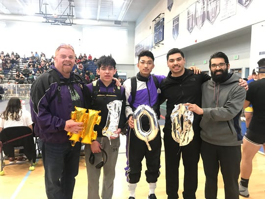 Though Mendoza hadn't kept track, coach Nicholas Castillo knew he was on the cusp of 100 varsity victories coming in to the season.