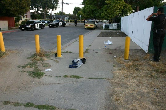 A photo of the crime scene where Barrios and Tarin were killed.