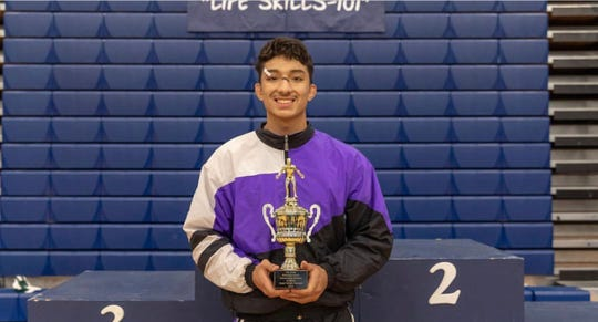 Mendoza was named Most Outstanding Wrestler for the Upper Weight levels at the Pat Lovell Holiday Classic at Aptos High School earlier this year.