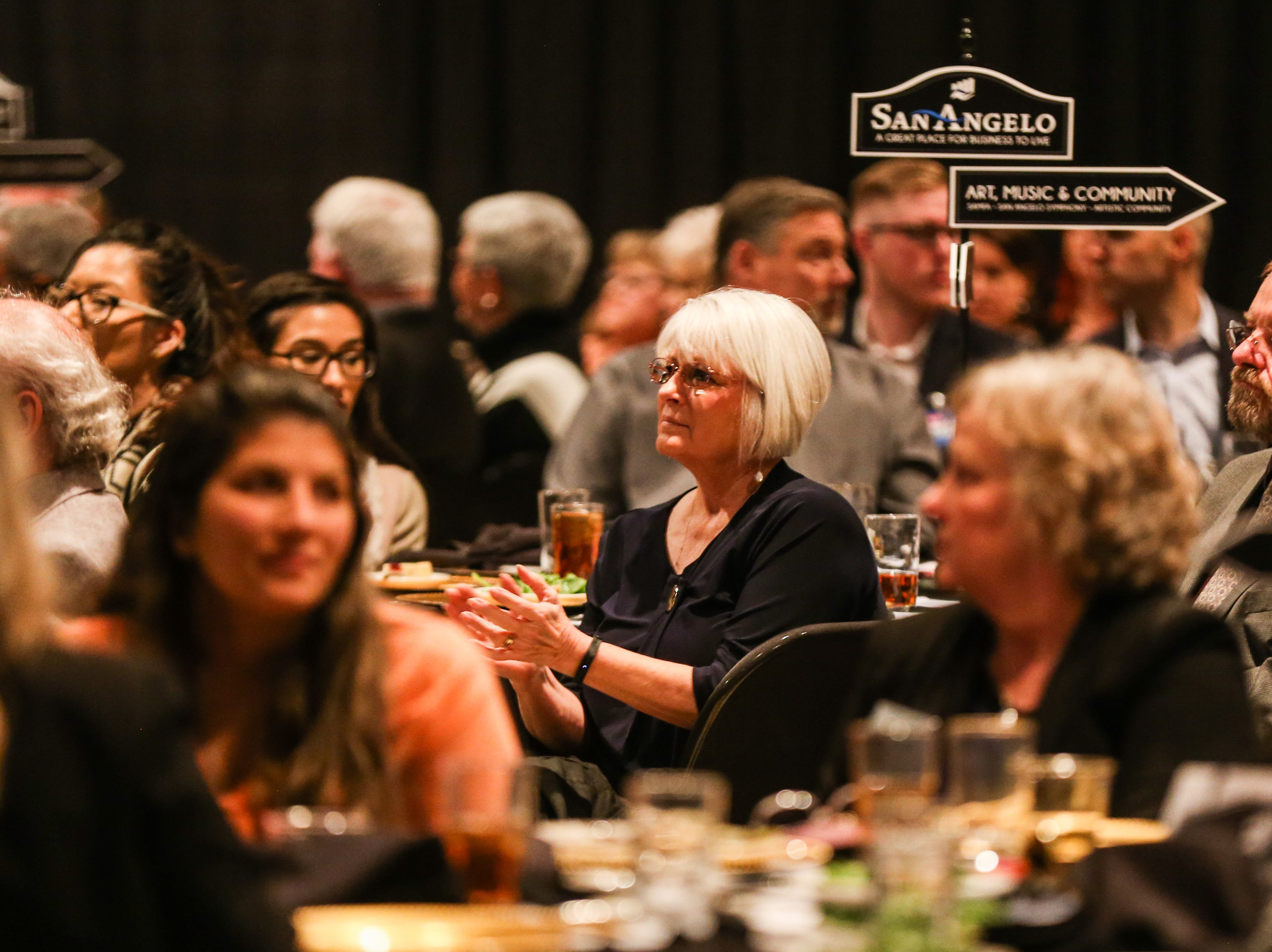 People listen to the speaker during the San Angelo Chamber of Commerce Annual Banquet Thursday, Jan. 24, 2019, at McNease Convention Center.