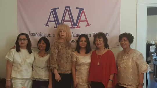 Pictured, from left, Thelma Peters, assistant treasurer; Libby Herbert, corresponding secretary; San Angelo Mayor Brenda Gunter; Charlene Cardenas, recording secretary; Dionee Jurado, vice president; and Erlinda Cline, president. Not pictured: Nancy Lacsan, treasurer.
