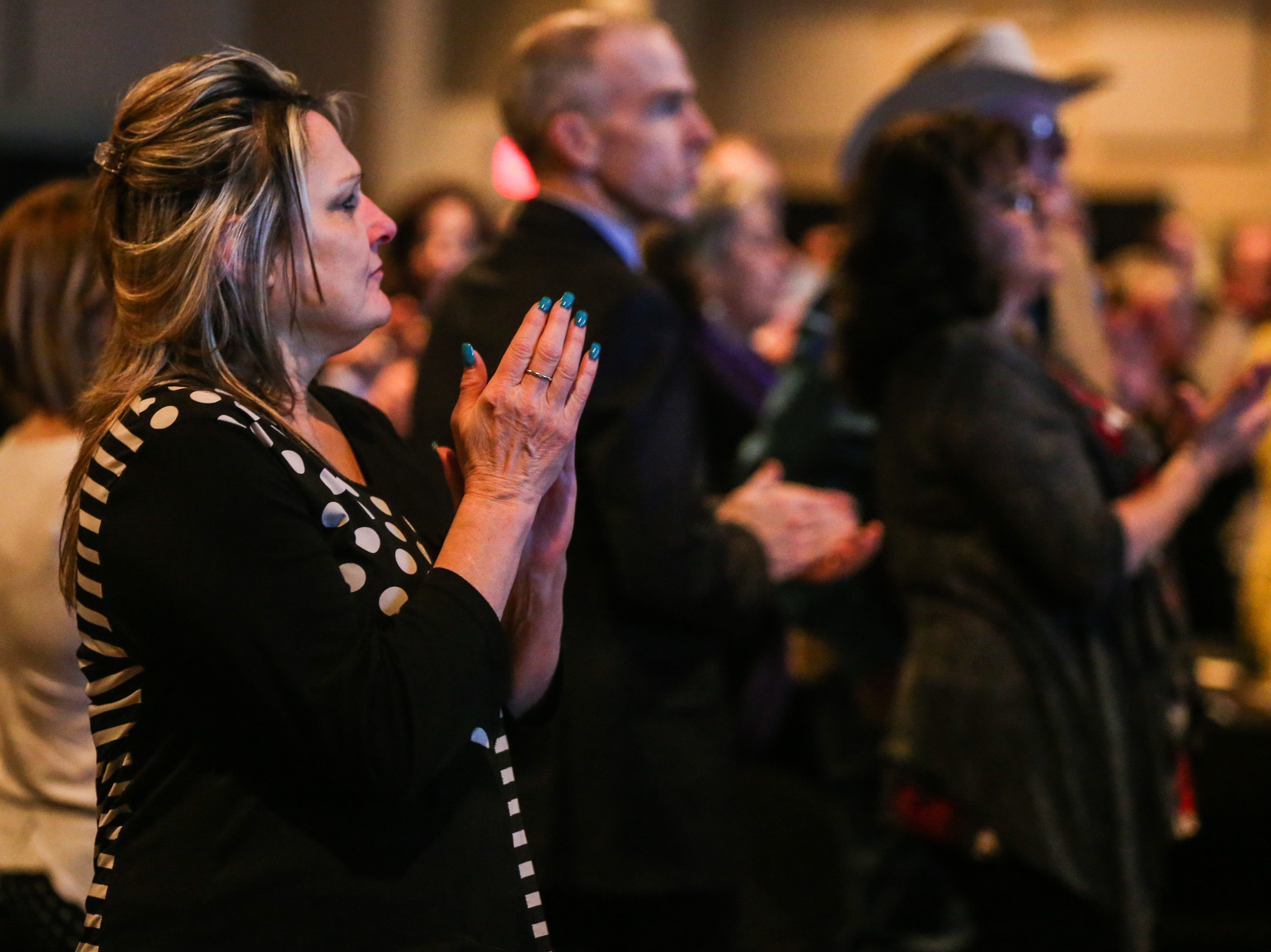 People clap for award recipients during the San Angelo Chamber of Commerce Annual Banquet Thursday, Jan. 24, 2019, at McNease Convention Center.