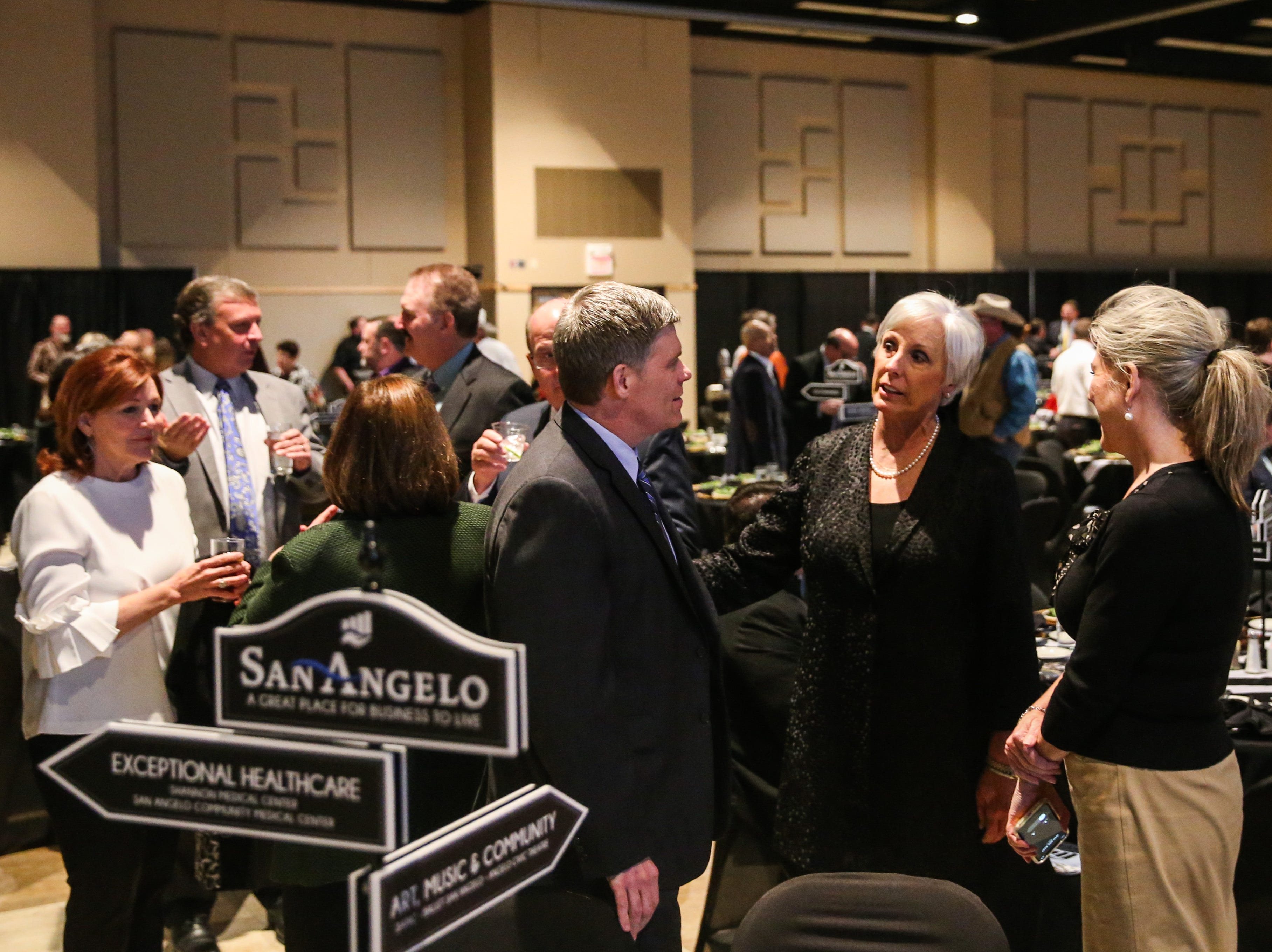 People mingle before the San Angelo Chamber of Commerce Annual Banquet Thursday, Jan. 24, 2019, at McNease Convention Center.