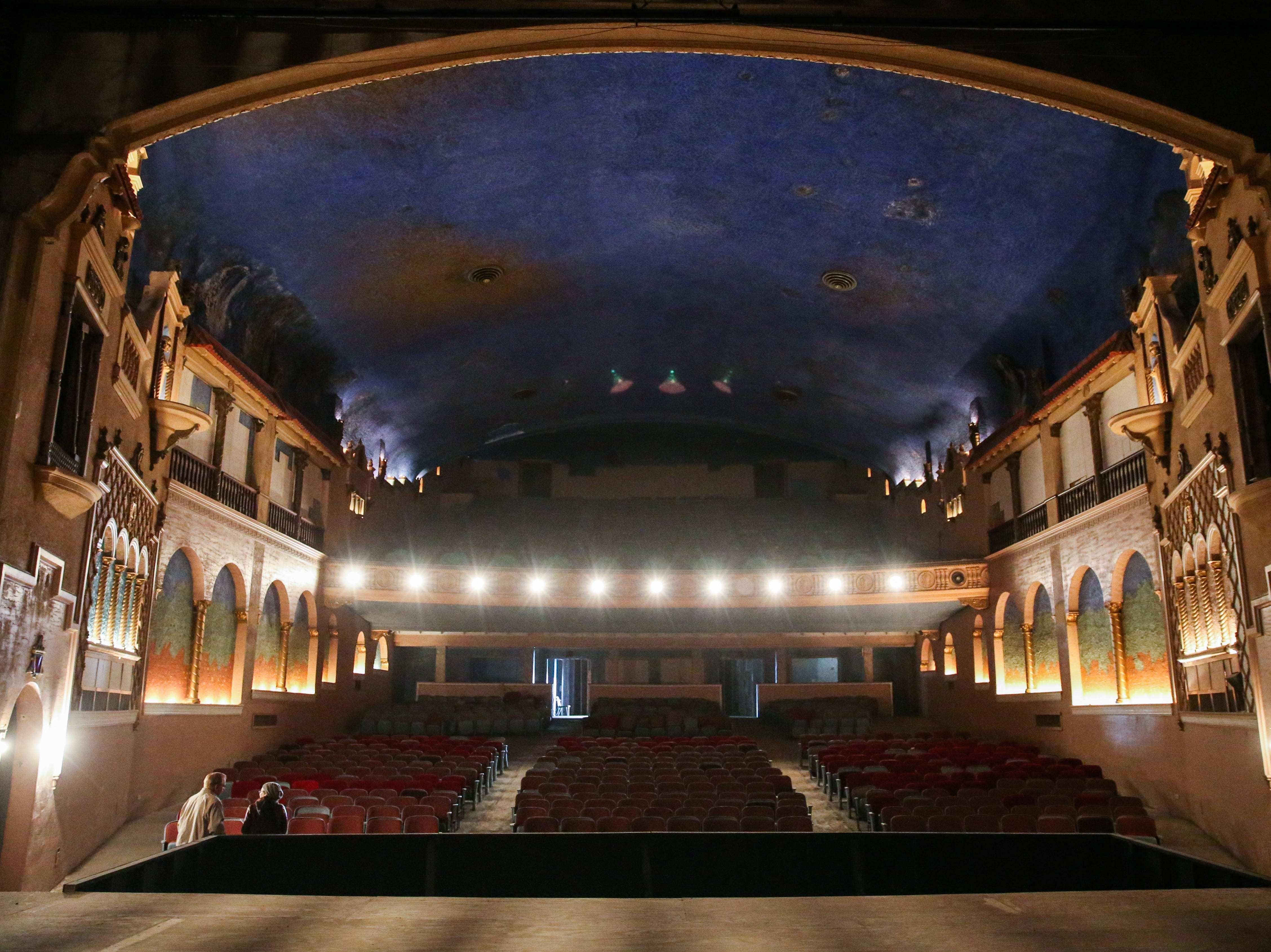 The view from the stage of the former Texas Theatre in downtown San Angelo. The last performance was in 2015.
