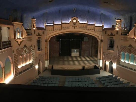 The upper balcony of the Texas Theatre, 33 W Twohig, overlooks the 90-year-old stage Thursday, Jan. 25. The balcony no longer has seats.