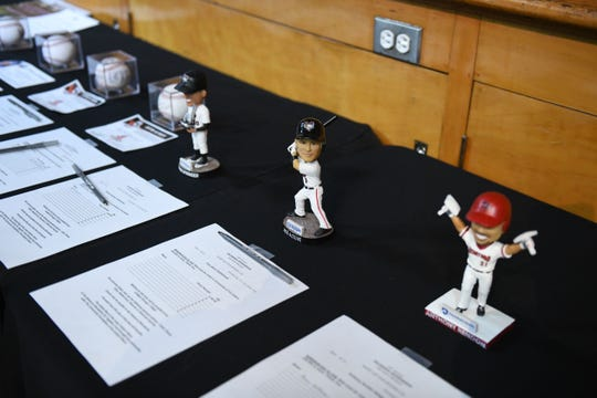 A variety of silent auction items were available during the 18th annual Hot Stove Banquet on Thursday, Jan 24, 2019 at the Wicomico Youth & Civic Center.
