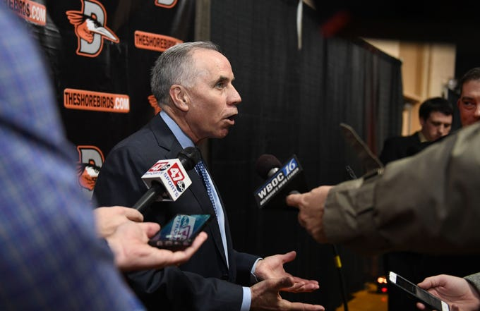 Tim Kurkjian, Major League Baseball analyst on ESPN's Baseball Tonight, was the special guest at the Delmarva Shorebirds 18th annual Hot Stove Banquet on Thursday, Jan 24, 2019 at the Wicomico Youth & Civic Center.
