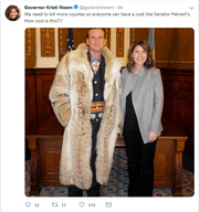 A screenshot of Gov. Kristi Noem's tweet.