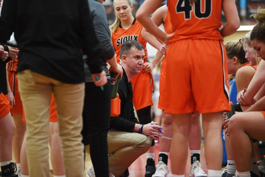 Washington's head coach Jamie Parish during the game against Lincoln Thursday, Jan. 24, at Lincoln. Lincoln won 63-62 against Washington.