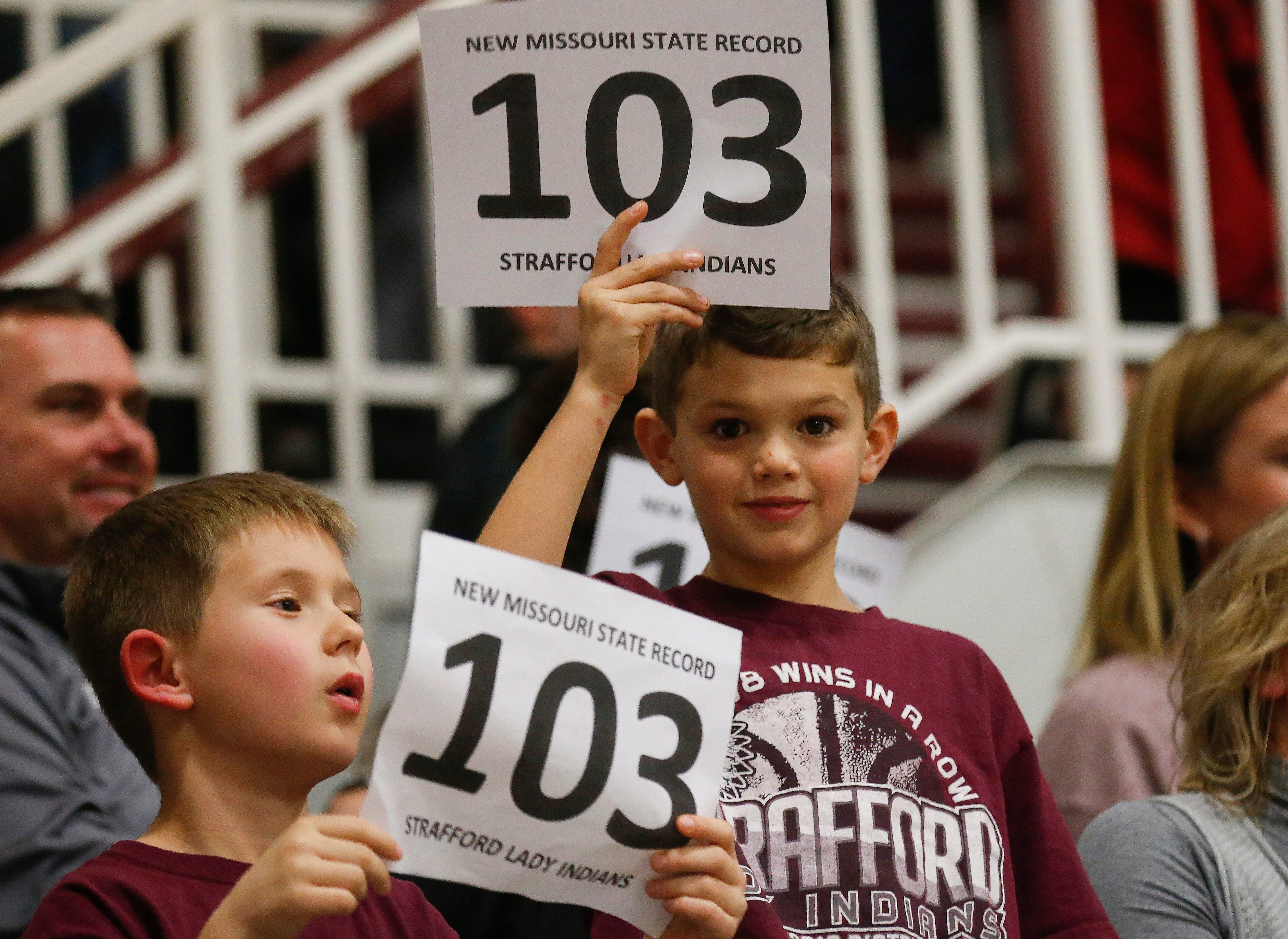 Scenes from Strafford's record setting win against Republic at Strafford High School on Thursday, Jan. 24, 2019.