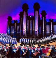 The Tabernacle Choir performs at Temple Square.