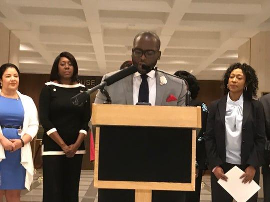 Rep. Shevrin Jones at a news event, Jan. 23, 2019