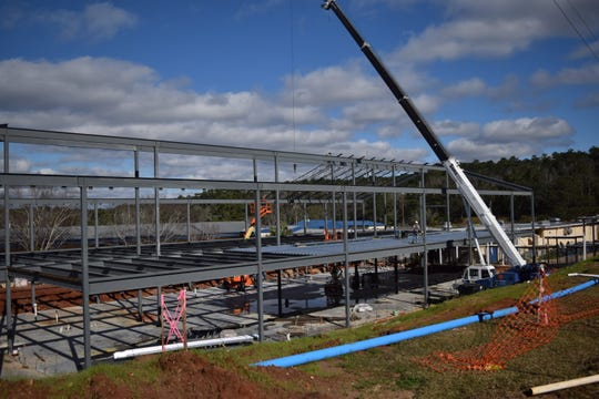 Construction is underway at Rickards High School. This two-story building will have 22 classrooms.