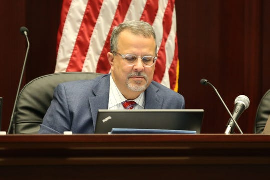 Florida Commission on Ethics Commissioner Tony Carvajal listens as the commission holds a public meeting before holding a probable cause hearing into an ethics complaint previously filed against former Mayor Andrew Gillum Friday, Jan. 25, 2019 at the First District Court of Appeals in Tallahassee.