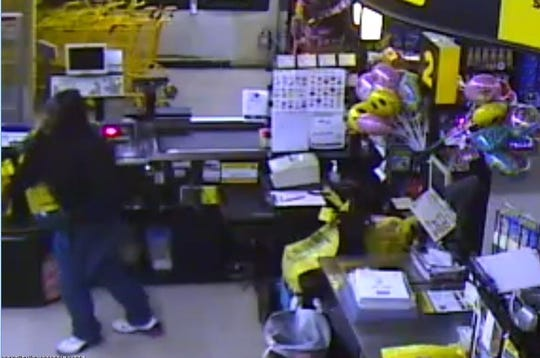 Police described the suspect in the Jan. 6, 2019, Dollar General burglary as a black man in his middle 20s to late 30s, 5 feet 7 inches to 5 feet 11 inches in height, wearing a black sweatshirt, bluejeans and white athletic shoes.