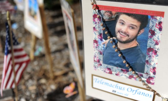 Telemachus Orfanos was killed on Nov. 7 in the mass shooting at the Borderline Bar & Grill in Thousand Oaks. His wake was held Saturday.