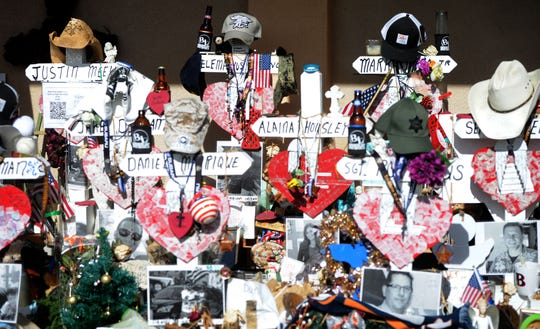 In the days after the mass shooting at the Borderline Bar & Grill, this memorial remembered the victims.