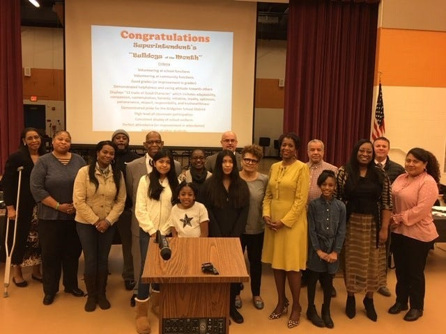 Bridgeton Superintendent's Bulldogs of the Month for December were honored at the Board of Education meeting on Jan. 15.