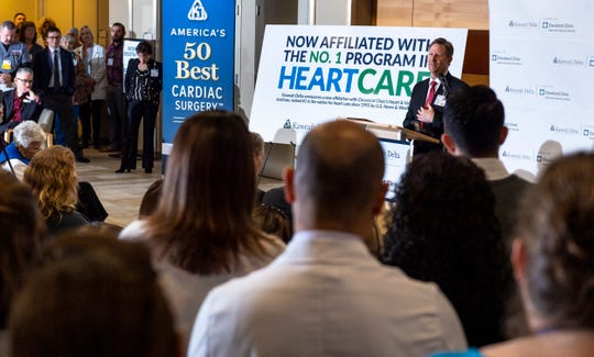 Kaweah Delta CEO Gary Herbst speaks about Kaweah Delta Medical Center's new affiliation with the Cleveland Clinic Heart & Vascular Institute on Friday, January 25, 2019.