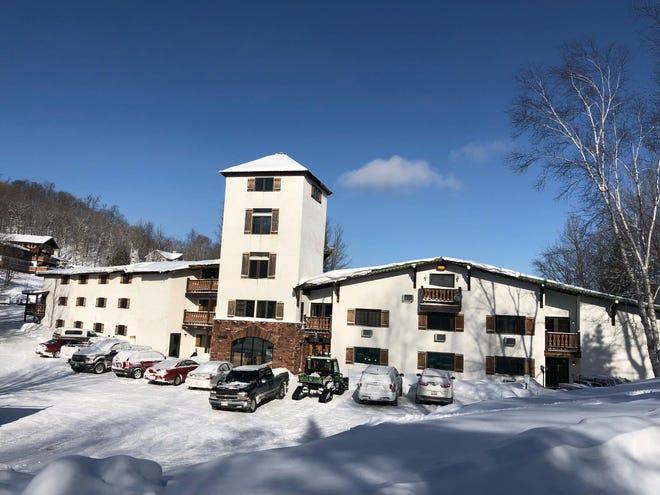 The hotel at the Whitecap Mountains ski resort in Upson.