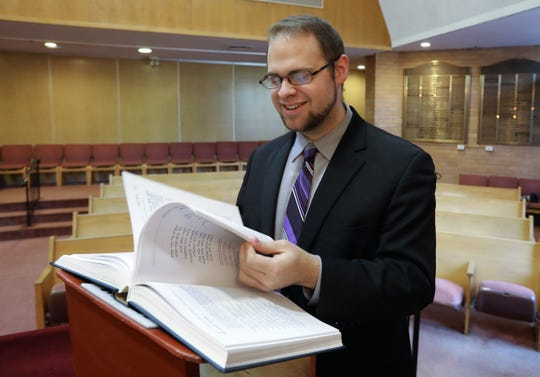 Jacob Sandler is interning for the year at the New City Jewish Center Jan. 25, 2019. He grew up in Rockland, and is a cantorial student at the Jewish Theological Seminary in New York City.