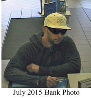 Surveillance image of Scarsdale bank robber.  Matthew Affek, a 36-year-old Bronxville resident, was arrested in connection with the 2015 robbery.