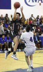 Appoquinimink's Kamal Yellowdy (0) was named to the All-Blue Hen Conference Flight A first team in boys basketball.