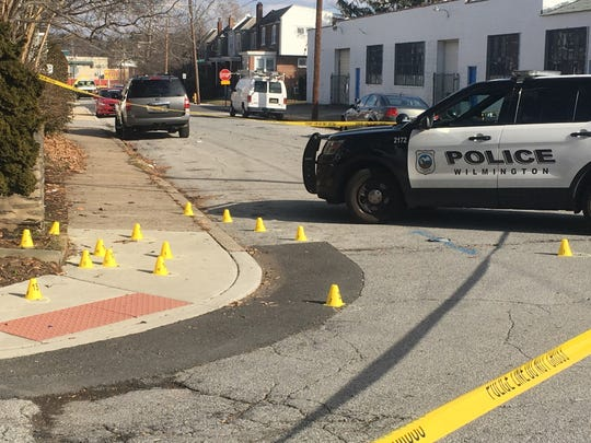 Wilmington police said an 18-year-old man was struck by gunfire Friday morning.