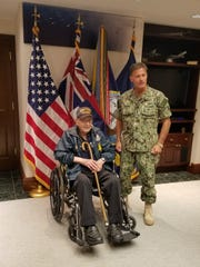 Robert Almquist, who retired from the Navy as a petty officer first class, got to meet Admiral John Aquilino, commander of the U.S. Pacific Fleet.