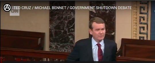 Senator Ted Cruz & Michael Bennet in heated government shutdown debate