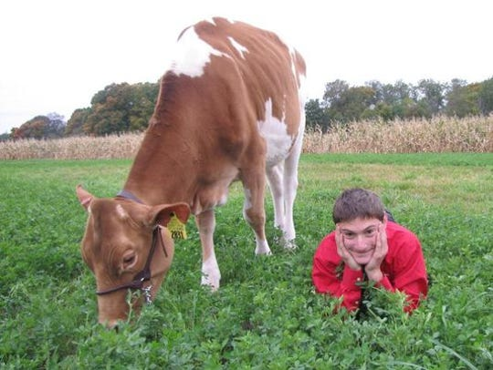 Levi Kindschi of Loganville, Wis., said winning the Wisconsin Guernsey Breeders' Association calf essay contest  in 2015 was a life-changing experience.