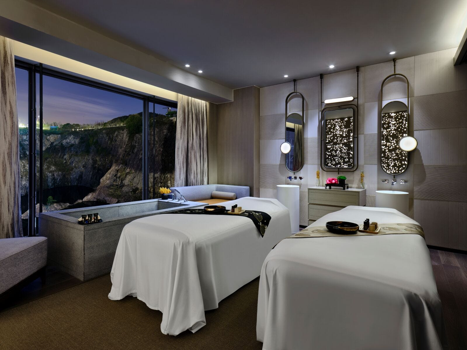 Many of the treatment rooms have exquisite views if you can keep your eyes open to enjoy them.