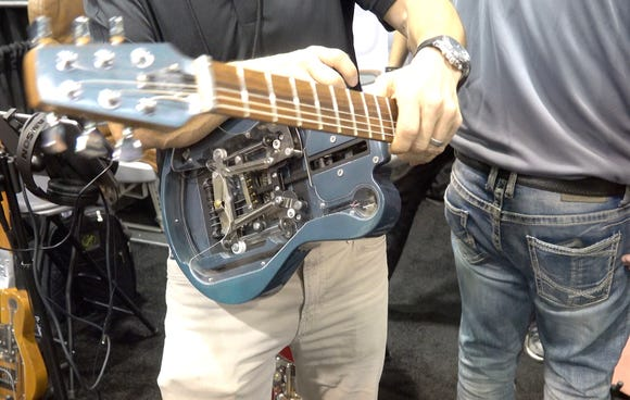 A foldable travel guitar was introduced at the NAMM music meets technology show. The Ciari Guitars, Inc. Ascender™ Premium Travel Guitar will be out in late 2019, and sell for $3,000
