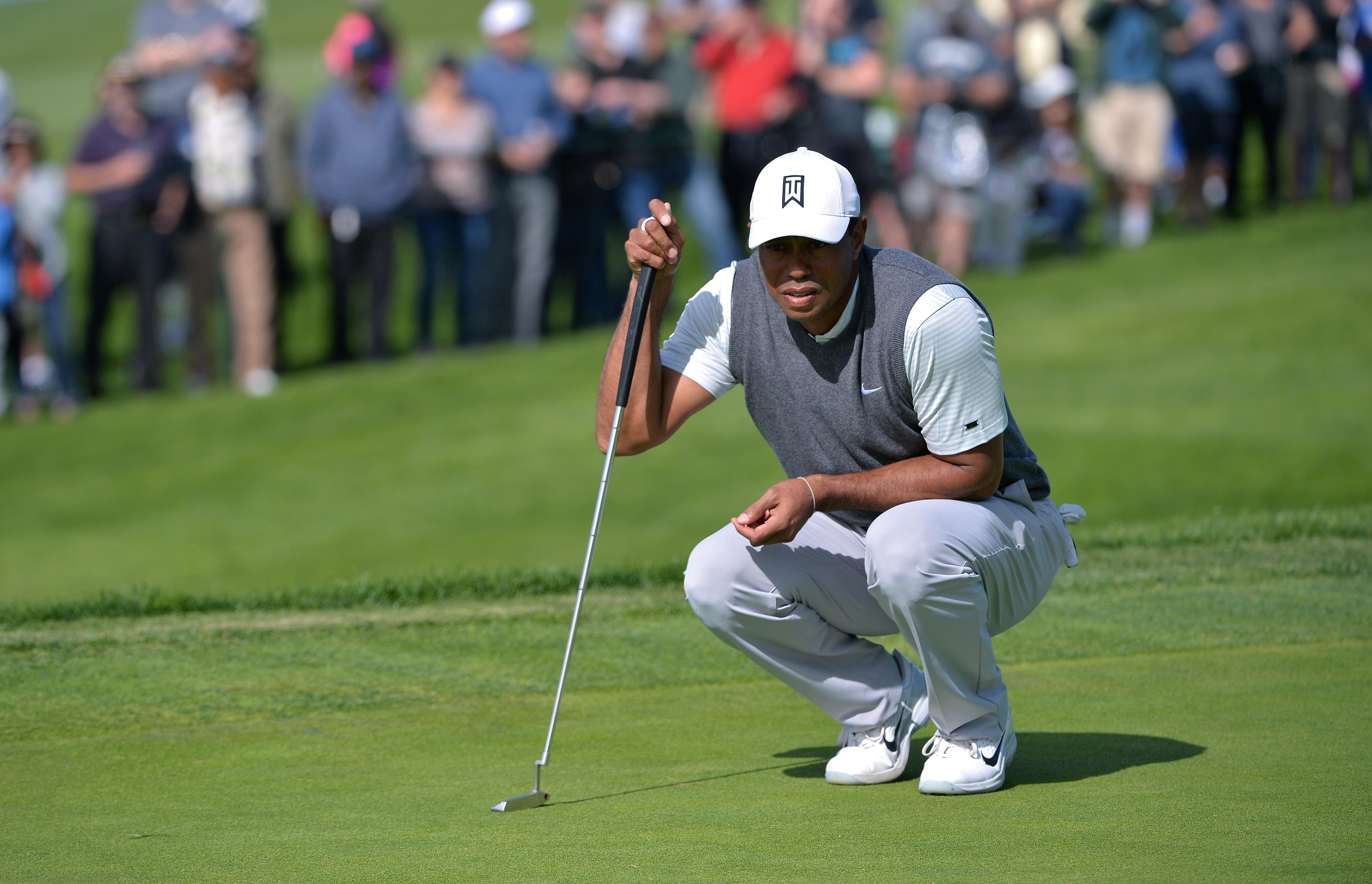 tiger woods posts shaky but solid opening round at torrey