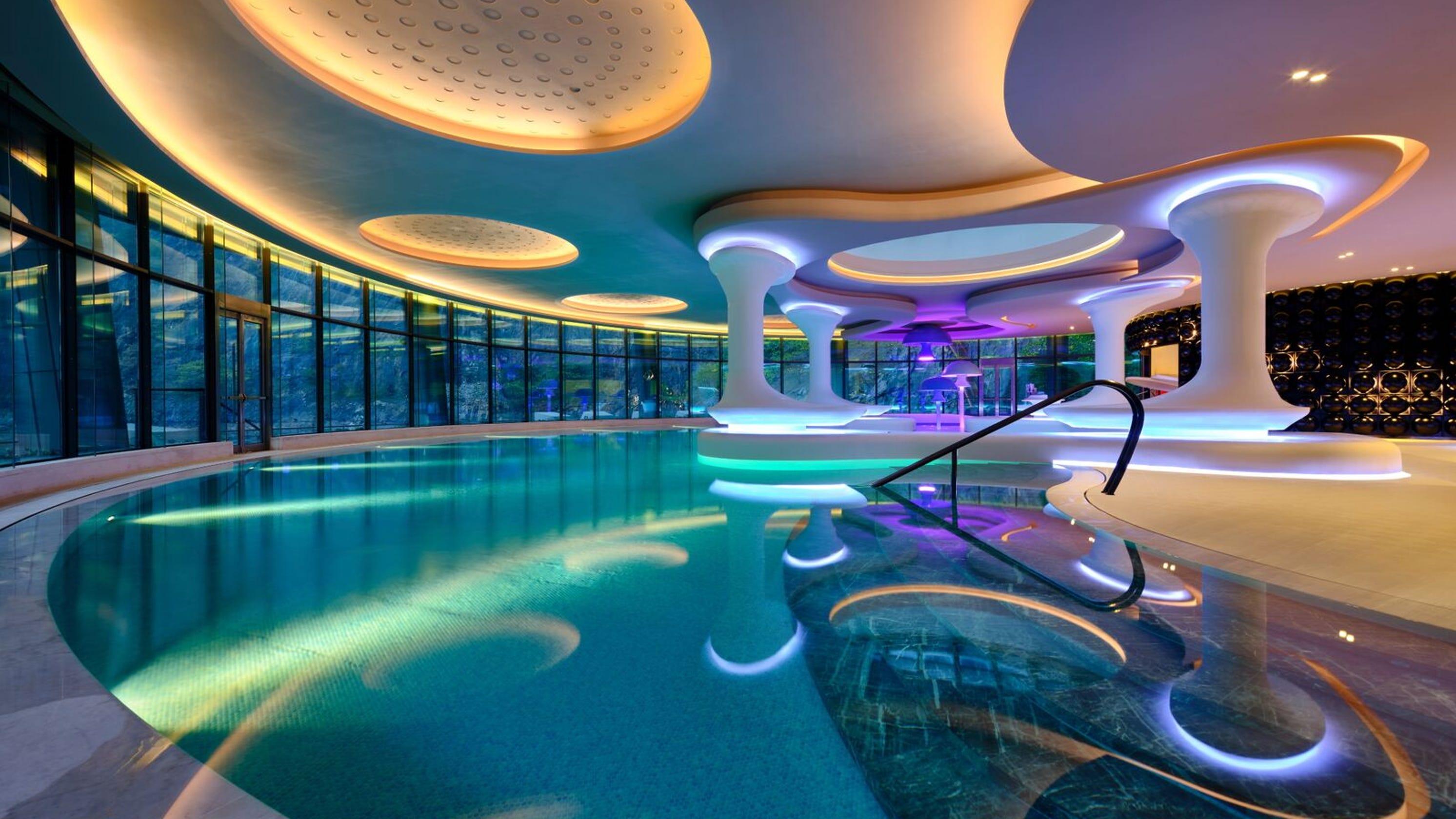 Intercontinental shanghai wonderland is first underground for Design hotel usa