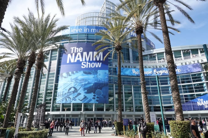 The NAMM Show in Anaheim attracts 100,000 people every year who come to see the latest in the intersection of musical instruments and technology.