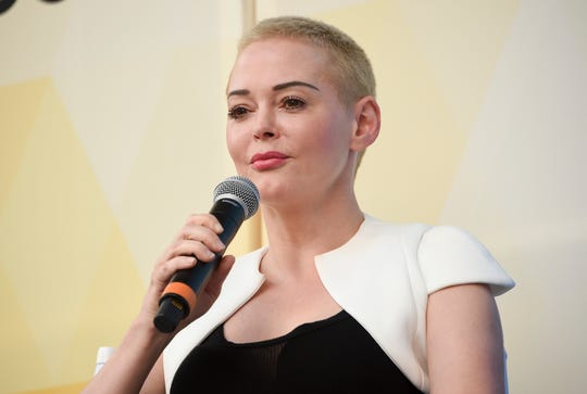 Rose McGowan in July 201 at OZY Fest in Central Park in New York.