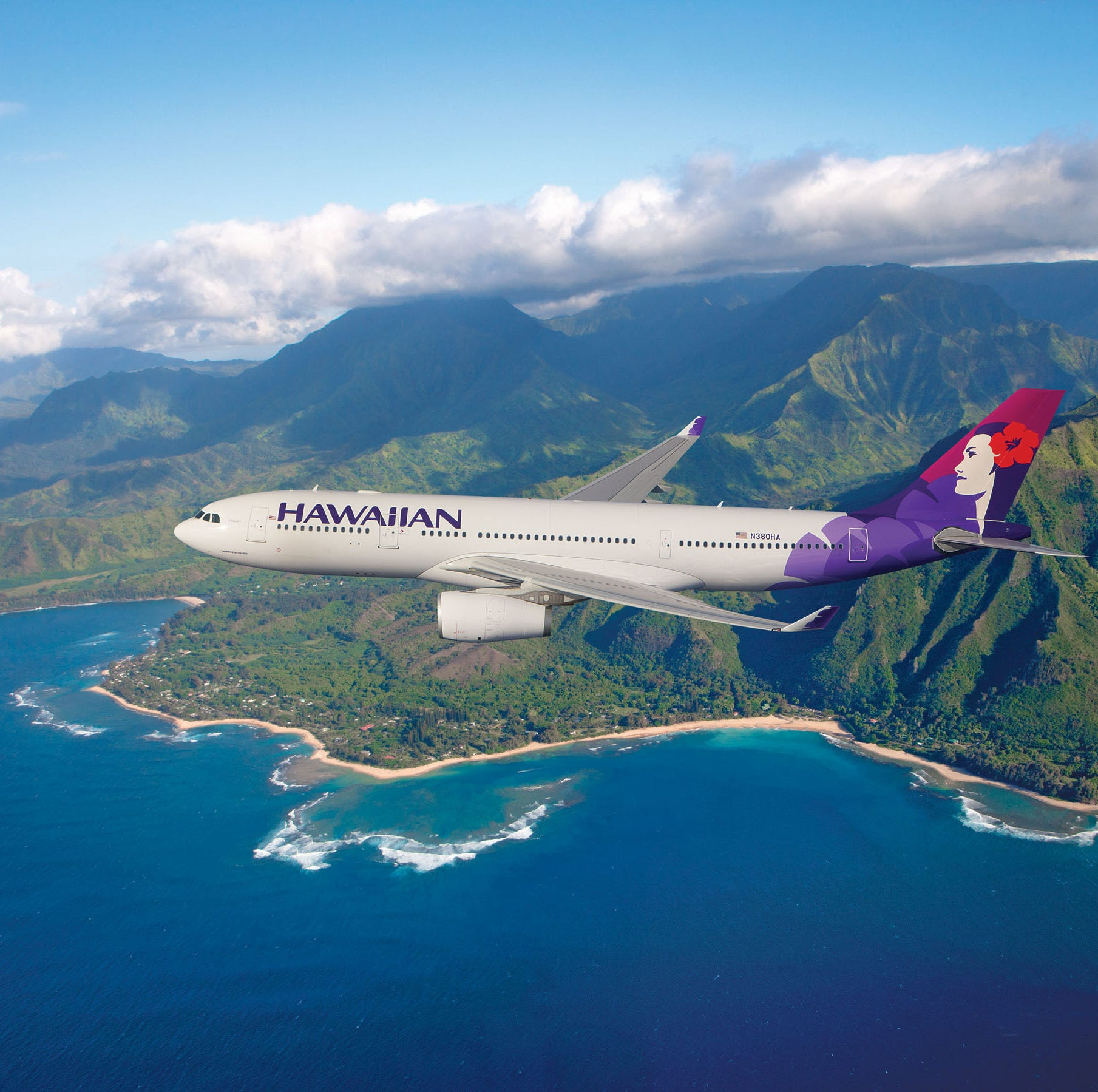 A crew member on a Hawaiian Airlines plane died, forcing the plane to be re-routed Thursday night.