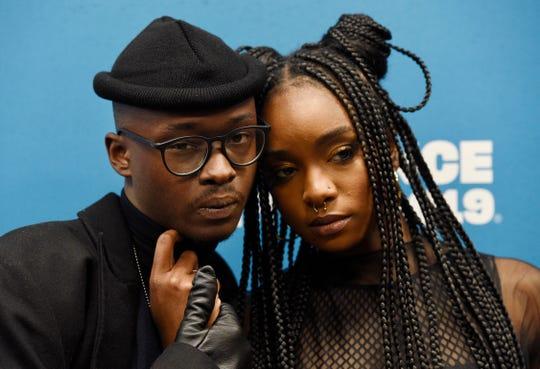"""Native Son"" stars Ashton Sanders, left, and KiKi Layne pose on the red carpet at Sundance Film Festival in January."