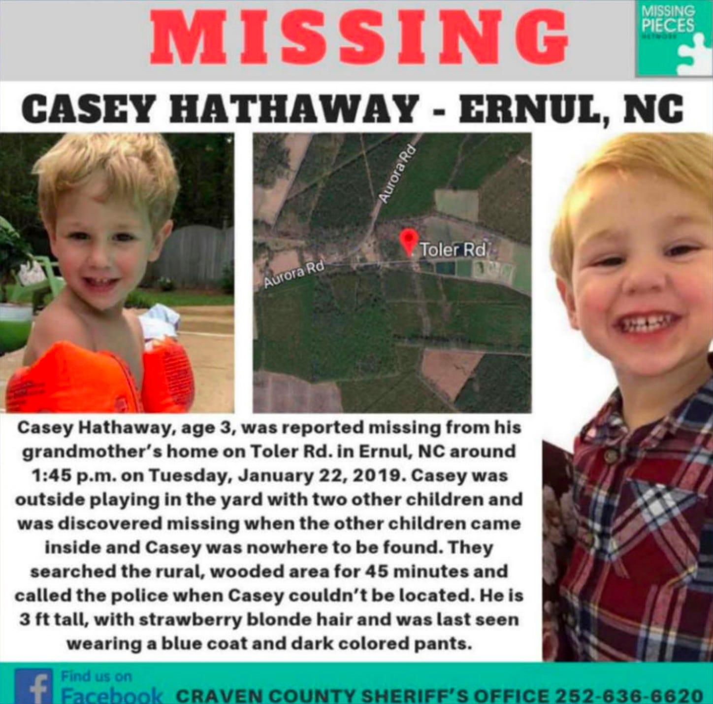 Missing boy, 3, found alive in North Carolina near 'treacherous' terrain